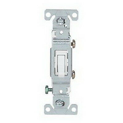 New Cooper Wiring Devices 1301-7W 15A 120V White Single Pole Toggle Switch