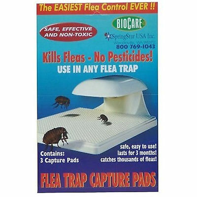 SpringStar BIOCARE 3-Pack Flea Trap Capture Pads Refill S103 for Any Flea Trap