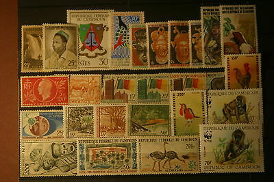 003357 LOT CAMEROUN 27 TIMBRES Neufs N** FORTE VALEUR