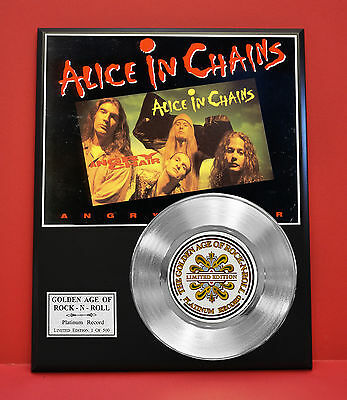 Alice In Chains Platinum Record Ltd Edition Rare Gift Collectible Music Award
