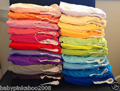 10 x Baby Cloth Nappies+20 inserts Reusable Washable 23 colours