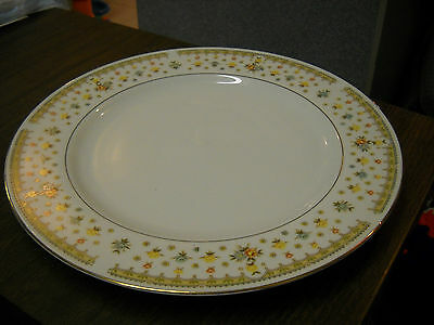 "GARDEN BOUQUET FINE CHINA #4078 10 1/4"" DINNER PLATE"