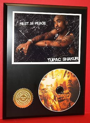 Tupac Shakur  Limited Edition Picture Cd Disc Collectible Rare Gift Wall Art