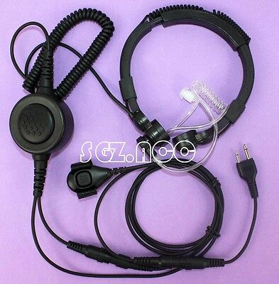 Military Tactical Throat Mic Headset/Earpiece For Midland Radio 75-820 72-822