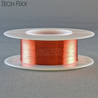 Magnet Wire 30 Gauge AWG Enameled Copper 200 Feet Coil Winding and Crafts Red