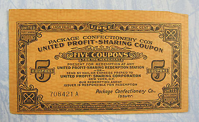 Vintage Pure Pack Package Confectionery Co's Profit Sharing Coupon, p-47
