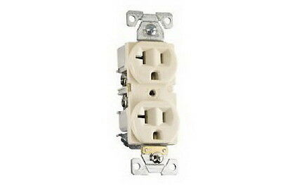 Cooper Wiring BR20V Duplex Receptacle, Back and Side Wire, Ivory
