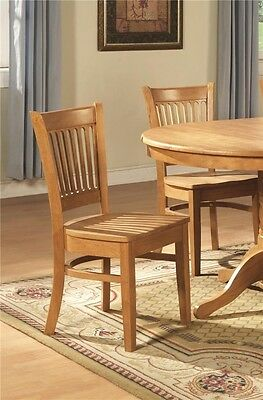 LOT OF 10 DINETTE KITCHEN DINING CHAIRS WITH PLAIN WOOD SEAT IN OAK FINISHED