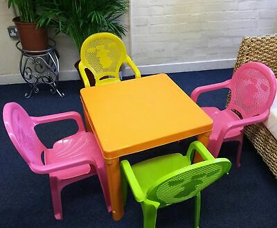 Kids Children Plastic Indoor Outdoor Stackable Garden Child Chair Seat / Table