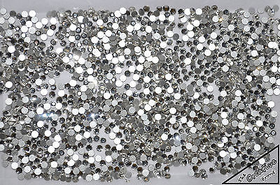 1440 Crystals - Flat Foiled Backed - Clear White - New Packaged