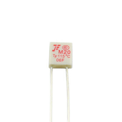 10Pcs New M20 TF 115℃ Thermal Fuse 250V 2A