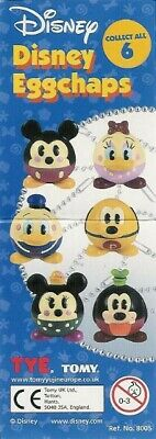 SET 6 Figure DISNEY EGGCHAPS Dangler DONALD Daisy Goofy Pluto Mickey Minnie TOMY