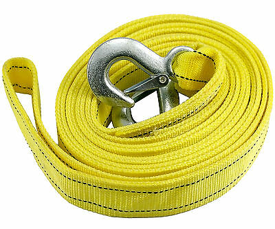 Heavy Duty Road Recovery Car Van 4.5M 5 TONNE Tow Towing Pull Rope Strap UK Q31