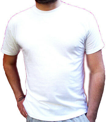 STOCK: 100x T-shirts Uomo FRUIT OF THE LOOM Tg S M L XL Bianche/nuove T-shirt