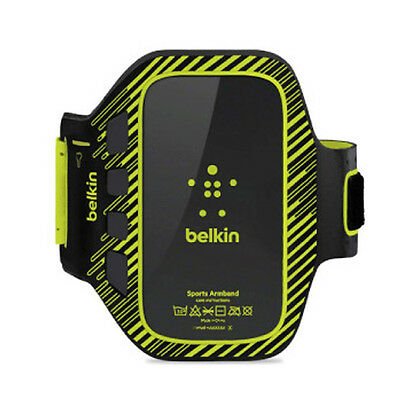 New Belkin Easefit Plus Sport Armband For Galaxy S3 S Iii Black Lime F8M409Cwc02