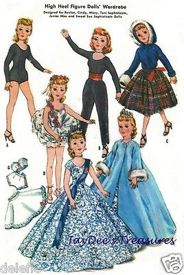 2255 Doll Clothes Pattern for 10.5 inch Revlon Toni Sweet Sue Junior Miss
