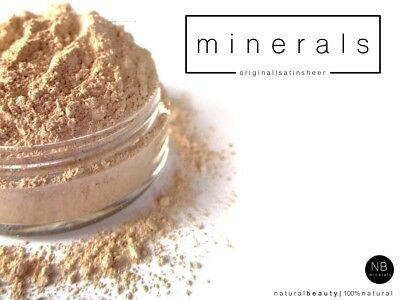 Mineral Foundation Loose Powder Bare Make Up Matte OR Satin Sheer Full Coverage