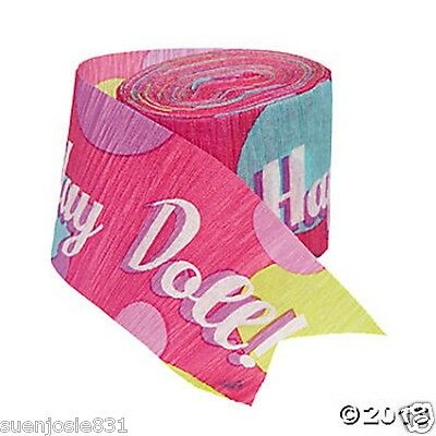Barbie All Dolld Up 30ft Birthday Crepe Streamer 1ct Party Decoration Supply