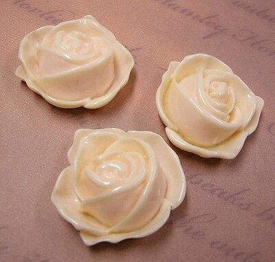 4pc 32mm Resin Flower Cabochon-4927