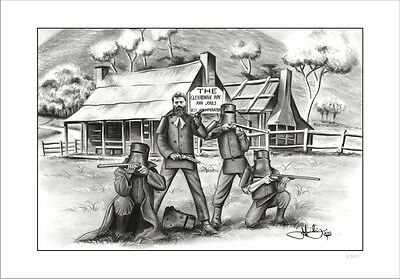 Ned Kelly Gang  At Glenrowan Inn      Limited Edition