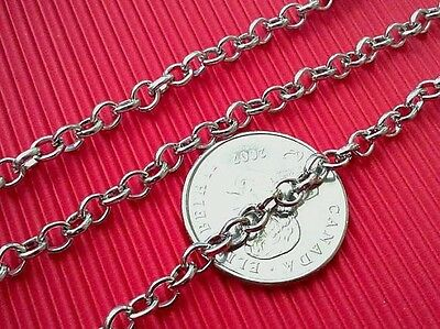 5 feet 5x4mm antique silver finish metal iron chain-5159