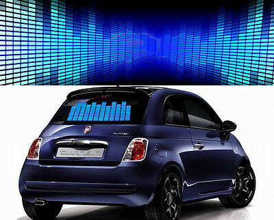 Music Operated EL Car Sticker Window Wall Interior Décor 12V Neon LED Light Blue