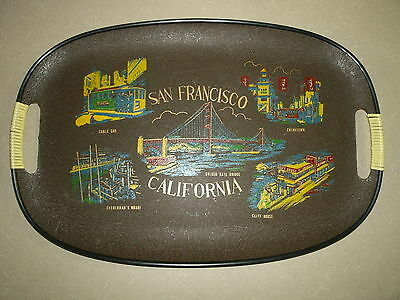 SAN FRANCISCO CALIFORNIA USA City State Patriotic Brown Tray Dish Souvenir Gift