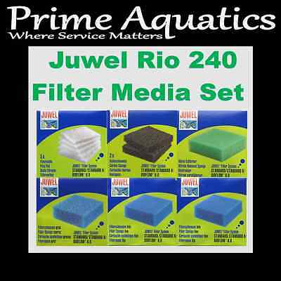 Juwel Rio 240 Complete Filter Media Set  New Boxed
