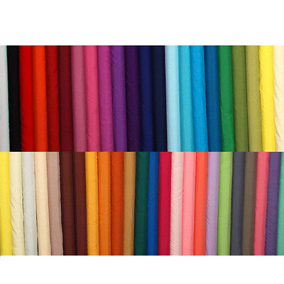 Plain Solid Polycotton Fabric Bunting T-shirt Material per Metre 112cm  Wide