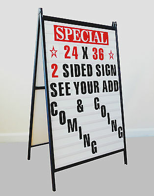 Sidewalk A Frame changeable Letters Message Sign with Letters set