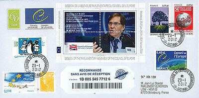 "CE63 Registered FDC Council of Europe ""Election President MIGNON France"" 01-2012"