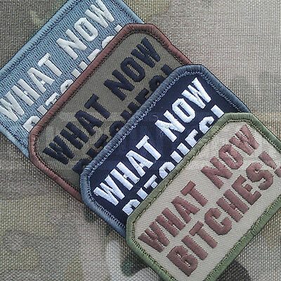 Mil-Spec Monkey Velcro Morale Patch What Now Bitches Multicam MTP UK