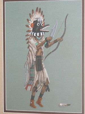 John (Johnny) Secatero Original Painting /navajo
