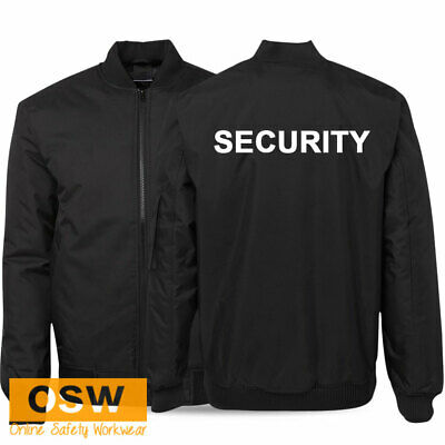 Security Guard Bouncer Hotel Staff Jacket With Security Print - Black/navy