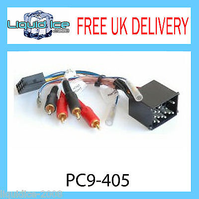 Pc9-405 Bmw 3 5 Series Z3 Amplified Rca To Iso Stereo Radio Adaptor Lead Cable