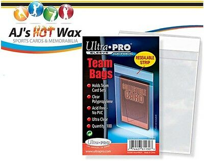 *NEW* Ultra Pro TEAM SET BAGS Resealable Strip 1000 card sleeves 10 PACKS 81130