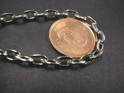 5 feet platina look 6.5x4mm flat link chain-1675