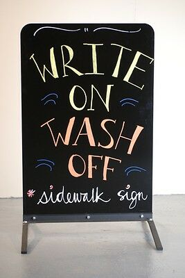 Sidewalk Sign Wind Flex Write on Board Liquid Chalk outdoor sign