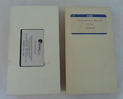 Lot of 2 VHS Video Tapes Scuba Diving In America- Advanced Inspection Technology