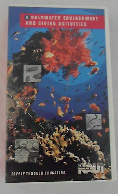 NAUI Safety Education VHS Video Tape Underwater Environment & Diving Activities