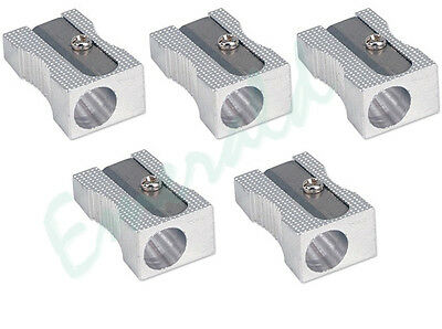 5 x Quality Single Hole Metal Pencil Sharpeners - Same Day Dispatch