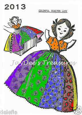 2013 Patchwork Quilt Toaster Cover Lady Pattern Girl Vintage Mail Order