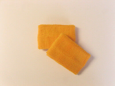 Golden Yellow Sports Quality Sweat Band Wristbands
