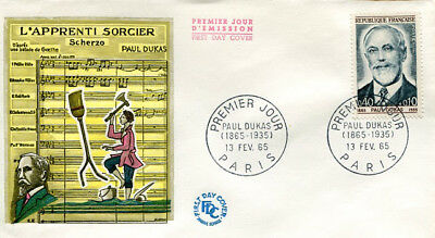 FRANCE 1965 - FDC 1444 1 COMPOSITEUR PAUL DUKAS - pn2