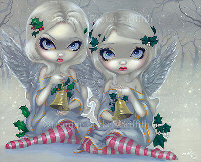 Angels of Highgate cemetery gothic fae art Jasmine Becket-Griffith CANVAS PRINT