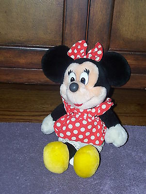 "Vintage Disney Minnie Mouse Tokyo Disneyland Stuffed Plush Animal 13"" EUC!!"