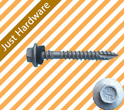 Roofing screw Self drilling Type 17 12g x 50mm CLASS 4 1000 PCS double grip