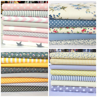 fat quarter bundles/ craft fabric 100% cotton pink blue greens lots of choices