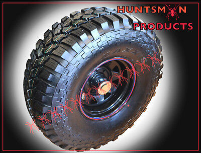 "Set 16"" Black  4Wd Wheels Fitted To Maxxis Trepadore 35"" Mud Terrain Tyres"