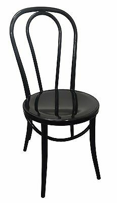 Replica Thonet Metal Bentwood Chair Cafe Restaurant Retro Dining Chairs Black